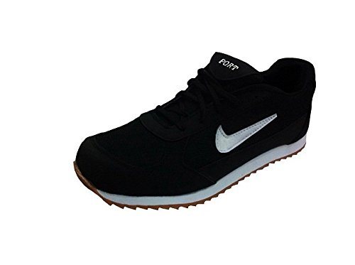 Port Unisex Black Leather Running Shoes ( PORTN-07 ) - 5