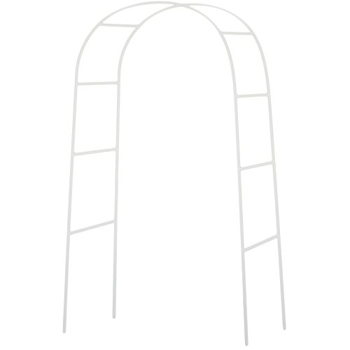 NStar Real Sized Metal Decoration Arch, White