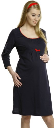 Maternity & Breastfeeding Nightdress - 100% Cotton - different colors - Made in EU