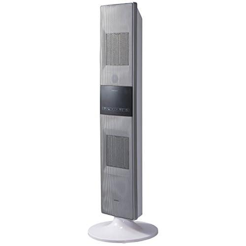 Pieria(ピエリア) タワー型セラミックヒーター ホワイト 上下段ON/OFF2段階切替 首振り機能 リモコン式 切タイマー 温度センサー付き 温度設定可能 DCH-1406 WH