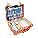 Pelican 1500 EMS Organizer Watertight Hard Case with Dividers & Lid Organizer - Orange provided by Pelican