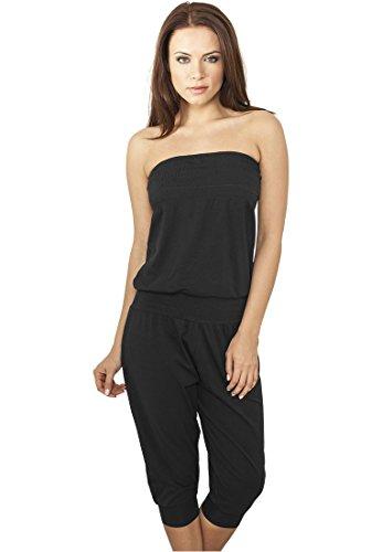 Ladies Shoulderfree Capri Jumpsuit black L