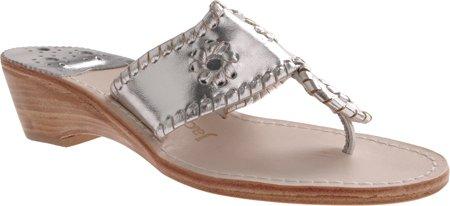 Jack Rogers Women'S Hamptons Midwedge Sandal Sandal,Silver,10 M