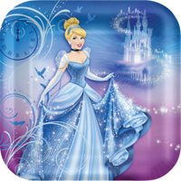 "Disney's Cinderella Sparkle 9"" Lunch Plates 8 Pack - 1"