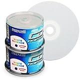 CD-R 80 Min/700 MB Maxell 52x totalmente imprimible en tarrina de 100 Unidades