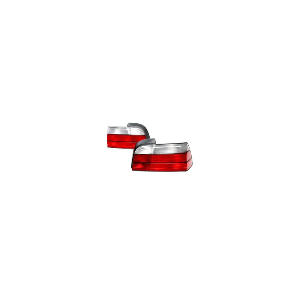 BMW E36 3 SERIES 2 DOOR COUPE 92 98 RED/CLEAR TAIL LIGHTS