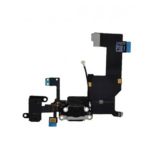 Generic Made For Iphone 5 Black Charger Port Dock Connector Flex Cable Usb Port Charging Port