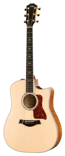 Taylor Guitars 610ce-L Dreadnought Acoustic Electric Guitar, Left Handed