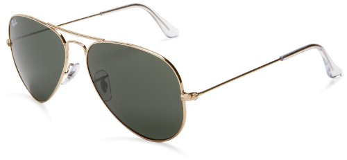 Ray-Ban RB3025 Aviator Large Metal  Non-Polarized Sunglasses,Gold Frame/G-15 XLT Lens,58 mm