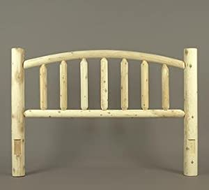 44 handcrafted cedar log style wooden arched for Log style beds