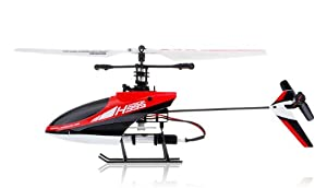 Hero RC 4CH 2.4Ghz Mini Radio Single Propeller RC Helicopter Gyro H995 hot selling 2.4GHz Single-Propeller with Gyro (Red)