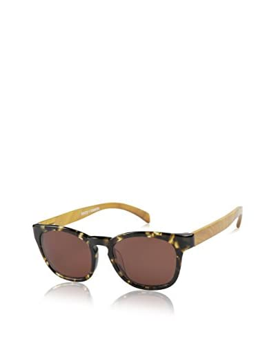 Ivory + Mason A3206 Bond Sunglasses, Tortoise/Olive Oak