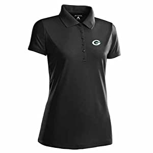 Green Bay Packers Ladies Pique Xtra Lite Polo Shirt (Alternate Color) by Antigua