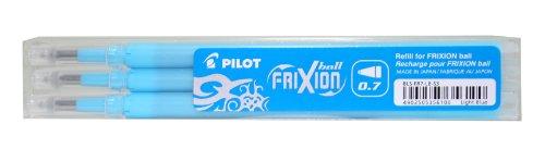 Pilot Stylo 0.5mm Frixion Recharge pour Frixion Stylo à bille effaçable - Turquoise (Lot de 3)