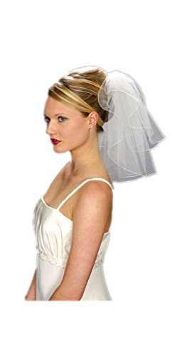VERNASSA Fashion One Layer Short Tulle Bridal Veil with Comb Wedding Veils
