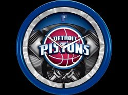 Authentic Street Signs Detroit Pistons Plasma Clock by Authentic Street Signs