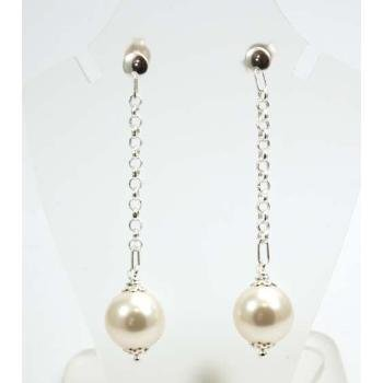 The Olivia Colleciton Sterling Silver Large Simulated Pearl Drop Earrings