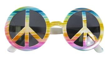 Rainbow Peace Sign 60's Sunglasses Shades Novelty Costume Accessory Adult Child Fashion