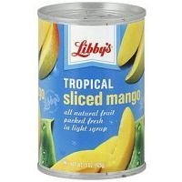 Libby's Tropical Sliced Mango in Light Syrup 15 Oz (Pack of 4) (Canned Mangoes compare prices)