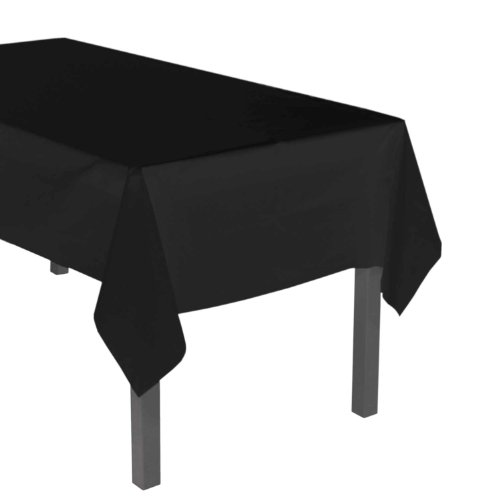 "Party Essentials ValuMost Plastic Table Cover, 54 x 108"", Black"