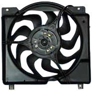 TYC 620560 Jeep Cherokee Replacement Radiator/Condenser Cooling Fan Assembly from TYC