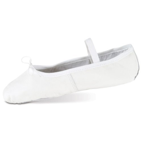 Danshuz Womens White Deluxe Leather Sole Cushion Ballet Shoe 3.5-10