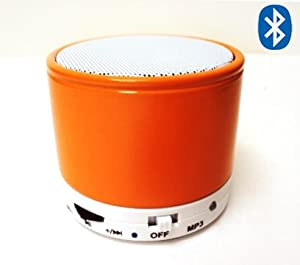 SK S10 Bluetooth Wireless Mini Speaker with Micro TF/SD Card Slot Mic Build in MP3 player Orange Color