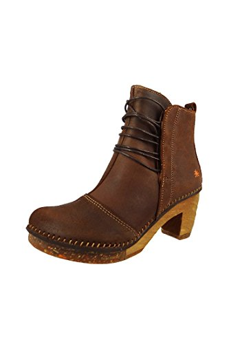Stivali di pelle cucita Art Stivali bassi Amsterdam Moka Brown 0310, ART Schuhe Damen:37