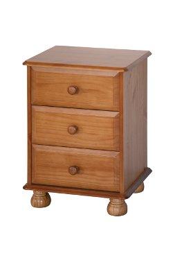 Dovedale 3 Drawer Bedside Cabinet