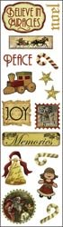Karen Foster Vintage Christmas Clear Stickers 2.5
