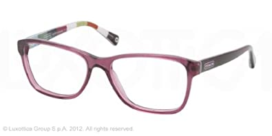 Amazon.com: COACH HC 6013 Eyeglasses 5043 Purple 52-16-135 ...