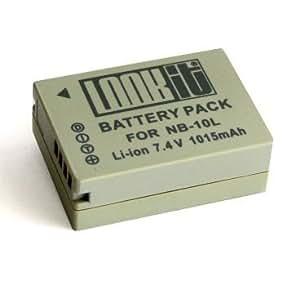 LOOKit - Batterie NB-10L Lithium-Ion - 1015mAh - pour Canon PowerShot SX50 HS, SX40 HS , PowerShot G15, PowerShot G1 X