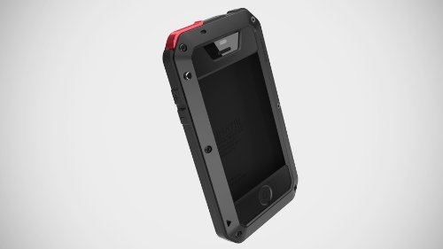Aluminum Metal Case With Gorilla Glass For Iphone 4 4S/5 5G Waterproof Shockproof Dirtproof (Black) front-1037932