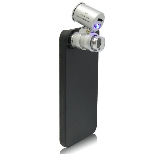 Mini Pocket 60X Camera Lens Microscope Magnifier With Case For Iphone 5 5G
