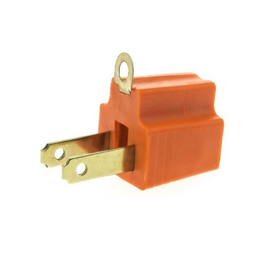 CableWholesale Cable Wholesale 3 Prong to 2 Prong Grounding Converter (30W1-32200) (2 Prong Polarized Plug compare prices)