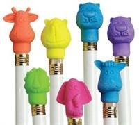Fun Express Zoo Animal Pencil Top Erasers (12 Dozen)
