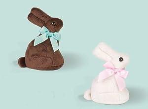 Chocolate Scented Bearington Bears Plush Chocolate Bunny (Chocolate or White-Chocolate)