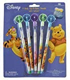 Disney Winnie The Pooh Pencils- 5pcs Pop-A-Point Pencils w/ Spinner