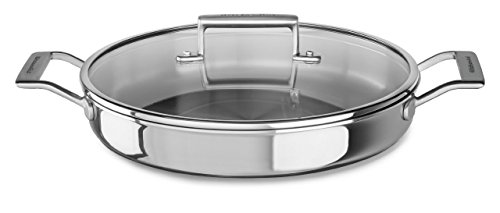 KitchenAid Tri-Ply Stainless Steel Braiser with Lid KC2T35BRST , 3.5 Qt. (Kitchenaid Triply compare prices)