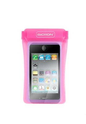 Cell Phone Waterproof Case 4.8 Inch Smart Phone Arm Band, Neck Strap, Small Digital Camera Case For Outdoor, Swimming, Beach, Hiking, Camping, Skiing (Pink)