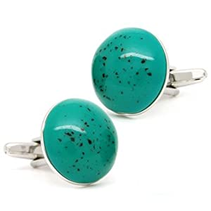 Classic Green Copper Alloy Onyx Cufflinks