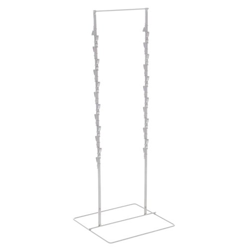 White Countertop Display Rack For Chips - 2 Strand (Chip Rack Display compare prices)
