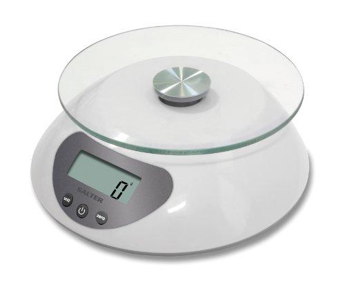Salter Balance de cuisine électronique avec plateau en verre Blanc 5 kg/5000ml