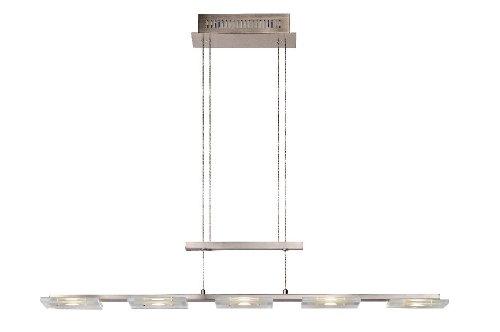 Lucide Cosa Hangeleuchte 5x 6 W, Länge 174 cm, 3500 K, 490 lm, alu / Glas 26453/25/12