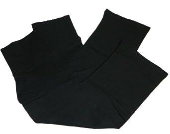 Active Basic Fold Over Flared Lounge Pant,Small,2 Pack: Black & Black Capri