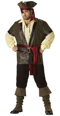 Rustic Pirate Men's Costume Adult Halloween Outfit