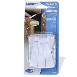 Safety First Cabinet and Drawer Latches - 12-Pack - 1