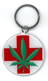 Medical Marijuana Leaf Top Quality Metal Portachiavi Keychain Keyring - Protective Packaging