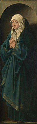 'Follower Of Quinten Massys - A Female Figure Standing In A Niche,about 1530' Oil Painting, 30x100 Inch / 76x255 Cm ,printed On Perfect Effect Canvas ,this High Definition Art Decorative Canvas Prints Is Perfectly Suitalbe For Powder Room Artwork And Home Decoration And Gifts
