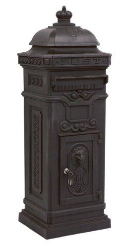 State Mailbox Antique Art Nouveau MOD6 mailbox mail box Aluminum - Anthracite - Column Mailbox - English letterbox - Nostalgia Nostalgia